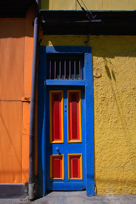 Bright and colorful buildings line the streets of Valparaíso, Chile.