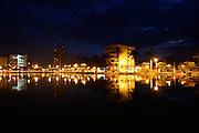 Sete Lagoas_MG, Brasil...Lagoa Paulino em Sete Lagoas a noite...The Paulino lake in Sete Lagoas at night...Foto: LEO DRUMOND / NITRO