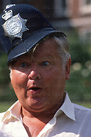 British comedian Benny Hill seen in London in September 1988.
