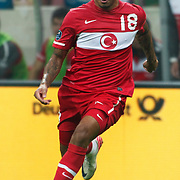 Turkey's Colin Kazım RICHARDS during their UEFA EURO 2012 Qualifying round Group A matchday 19 soccer match Turkey betwen Germany at TT Arena in Istanbul October 7, 2011. Photo by TURKPIX