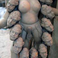 Asia, India, Calcutta. Clay sculpture at the potter's village of Kumartuli in Calcutta.