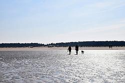 Holkham beach on a sunny September day, Norfolk UK