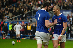 February 2, 2020, Saint Denis, Seine Saint Denis, France: The Flanker of French Team CHARLES OLLIVION in action during the Guinness Six Nations Rugby tournament between France and  England at the Stade de France - St Denis - France.. France won 24-17 (Credit Image: © Pierre Stevenin/ZUMA Wire)