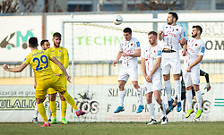 Arnel Jakupovic of Domzale scoring first goal for Domzale during football match between NK Domzale and NK CB24 Tabor Sezana in 22nd Round of Prva liga Telekom Slovenije 2020/21, on February 21, 2021 in Sports park Domzale, Slovenia. Photo by Vid Ponikvar / Sportida