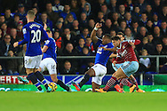 West Ham's Mauro Zarate scores the equalising goal - Everton vs. West Ham United - Barclay's Premier League - Goodison Park - Liverpool - 22/11/2014 Pic Philip Oldham/Sportimage