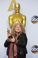 """88th Academy Awards press room.<br /> Costume Design winner for the film """"Mad Max:Fury Road,"""" Jenny Bevan."""