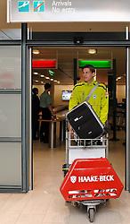 11.01.2010, Flughafen, Bremen, GER, Ankunft Werder Bremen Trainingslager Belek Türkei / Tuerkei 2011, im Bild Tim Borowski (Bremen #6)   EXPA Pictures © 2011, PhotoCredit: EXPA/ nph/  Frisch       ****** out of GER / SWE / CRO ******