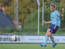 Anders Holst (FC Helsingør) under træningskampen mellem FC Helsingør og IS Halmia (Sverige) den 24. juli 2012 på Helsingør Stadion (Foto: Claus Birch).