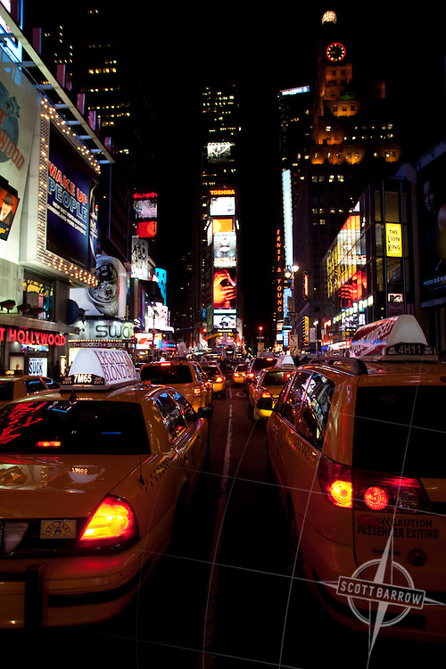 Times Square area at night