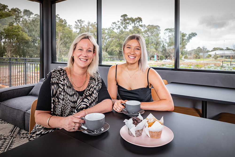 Tailwinds Café operators Penny and Paige Jacks at their new cafe in Bullsbrooke