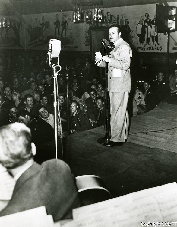 1944 Bob Hope entertains the servicemen at the Hollywood Canteen