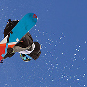 Eiju Hirano, Japan, in action during the Men's Half Pipe competition at the Burton New Zealand Open 2011 held at Cardrona Alpine Resort, Wanaka, New Zealand, 9th August 2011. Photo Tim Clayton