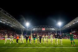 27-09-2018 NED: FC Utrecht - MVV Maastricht, Utrecht<br /> First round Dutch Cup stadium Nieuw Galgenwaard / Team Utrecht thanks the Bunnik-side for their support