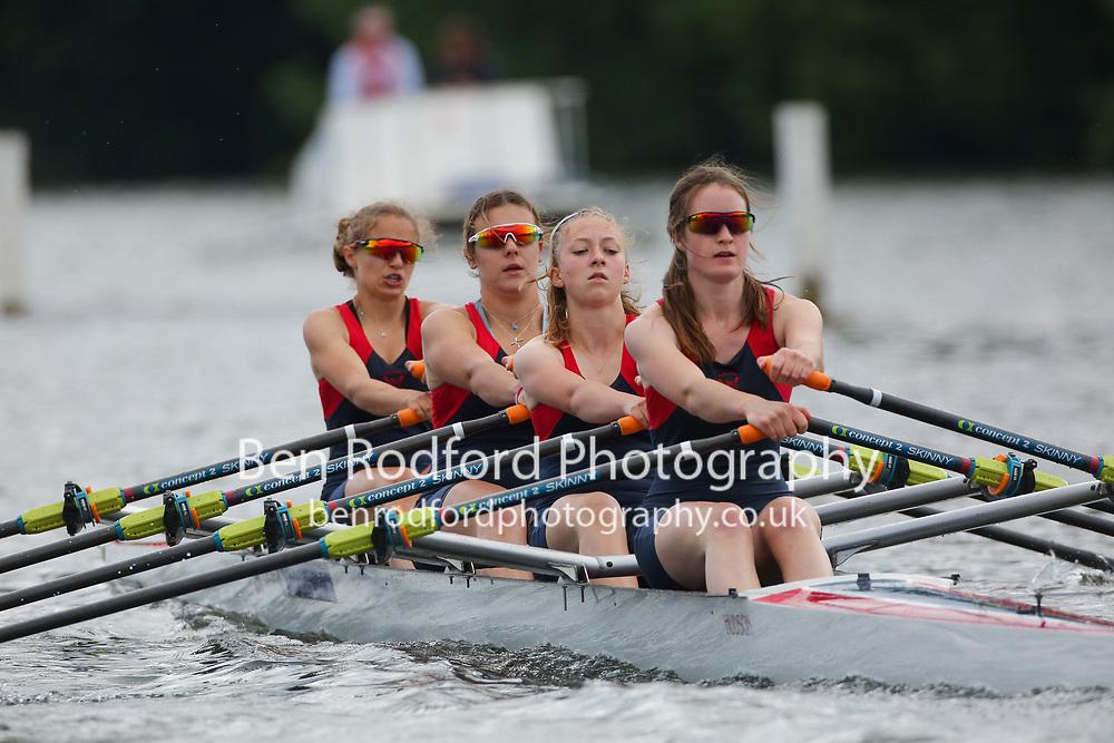 Junior 4x  Heat<br /> <br /> Sir William Borlase's Grammar School (A)<br /> Wycliffe Junior Rowing Club (B)<br /> <br /> Henley Women's Regatta 2021<br /> Saturday
