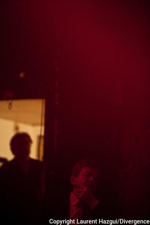 02042012. Paris Bataclan. Campagne présidentielle 2012. Jean-Luc Mélenchon intervient sur la thématique culture de son programme.