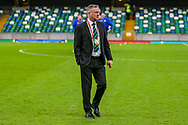 Northern Ireland Manager Michael O'Neill ahead of the UEFA European 2020 Qualifier match between Northern Ireland and Estonia at National Football Stadium, Windsor Park, Northern Ireland on 21 March 2019.