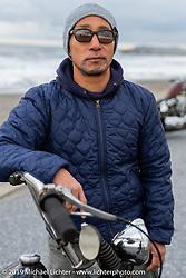 Kazushige Roppongi with his 1981 Harley-Davidson Shovelhead on the SureShot ride around Chiba, Japan. Saturday, December 8, 2018. Photography ©2018 Michael Lichter.