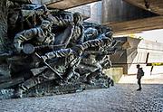 Ukraine, Kyiv, Soviet Era Sculptures Depicting The Struggle Against Nazi Germany Invasion In World War II, Museum Of The History Of Ukraine In World War II
