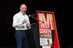 © Licensed to London News Pictures. 07/07/2016. LONDON, UK.  General Secretary of the Fire Brigade Union, MATT WRACK speaking at a rally in support of keeping Jeremy Corbyn remaining the Labour party leader at the Troxy in east London on 6th July 2016. The event was organised by Momentum, a group of Labour Party supporters who are campaigning for Jeremy Corbyn to remain as leader of the Labour Party, following the recent resignation of many shadow cabinet MP's and the growing likelihood of a Labour Party leadership challenge..  Photo credit: Vickie Flores/LNP