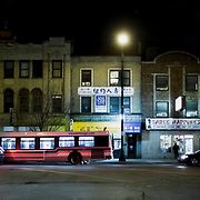 Chicago Chinatown at night, 2019.