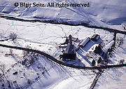 Southwest PA Aerial, Bedford Co., Farms and Snow,