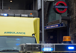 London Bridge Passengers 'Taken Ill', Police And Ambulance Called. Four people have been taken ill at one of London's busiest stations, but rumours of a potential gas leak have been dispelled by emergency services. Photo credit : Justin Setterfield.