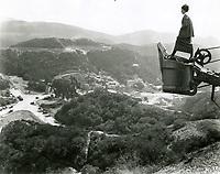 1923 Hollywoodland village at left