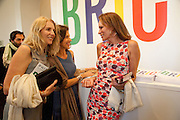 GAIL BOGLIONE; CLEO SHAND; ANDREA DELLAL, Phillips de Pury and Company.- BRIC- Exhibition and auction celebrating Brazil, Russia, India and China at the Saatchi Gallery. London.  17 April 2010.