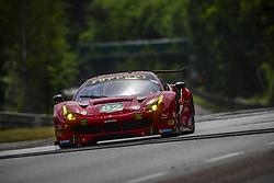 June 4, 2017 - Le Mans, France - 82 RISI COMPETIZIONE (USA) FERRARI 488 GTE LMGTE PRO GIANCARLO FISICHELLA (ITA) PIERRE KAFFER (DEU) TONI VILANDER  (Credit Image: © Panoramic via ZUMA Press)