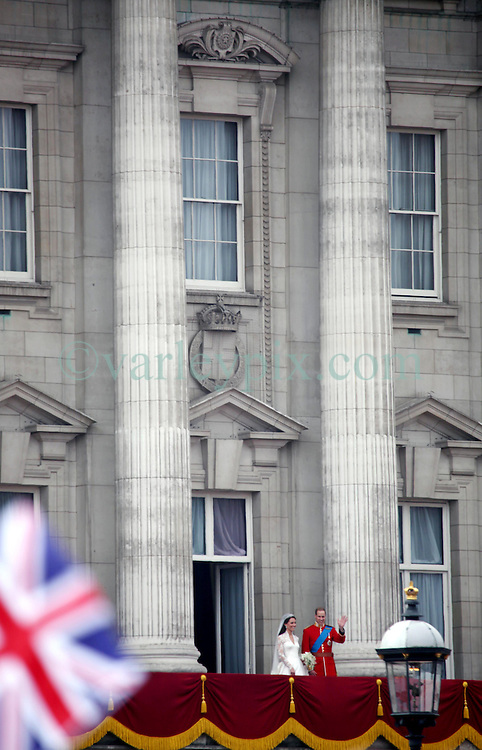 29 April 2011. London, England..Royal wedding day. William and Kate. The royal family take to the balcony  at Buckingham palace to acknowledge the adoring crowd,.Photo; Charlie Varley.