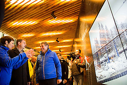 Maja Makovec Brencic, Minister of Education, Science and Sport, Miro Cerar, prime minister of Slovenia and Jelko Gros of Zavod za sport RS Planica at Official opening of the new Nordic centre Planica, on December 11, 2015 in Planica, Slovenia. Photo by Vid Ponikvar / Sportida