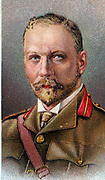 'Jan Christian Smuts (1870-1950) South African and British Commonwealth statesman, soldier and philospher. During First World War he directed operations in German East Africa. Chromolithograph.'