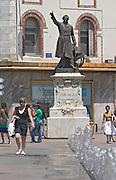 Francois Arago statue. Perpignan, Roussillon, France.
