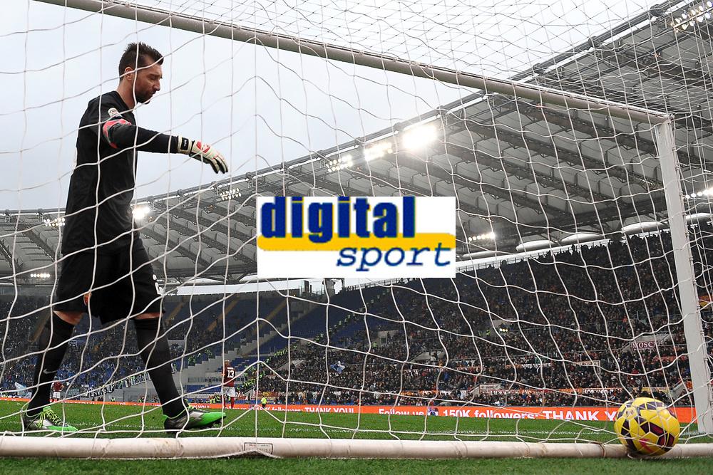 Delusione Morgan De Sanctis Roma <br /> Roma 11-01-2015 Stadio Olimpico, Football Calcio Serie A AS Roma - Lazio . Foto Andrea Staccioli / Insidefoto