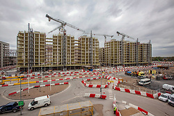 Olympic Village. View of construction of Olympic Village Block N03 (left) and N04 (right). Picture taken on 30 April 2010 by David Poultney.
