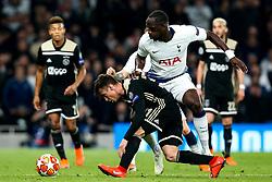 Nicolas Tagliafico of Ajax takes on Moussa Sissoko of Tottenham Hotspur - Mandatory by-line: Robbie Stephenson/JMP - 30/04/2019 - FOOTBALL - Tottenham Hotspur Stadium - London, England - Tottenham Hotspur v Ajax - UEFA Champions League Semi-Final 1st Leg