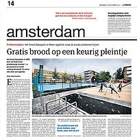 Parool 18 september 2013: Ernest Staesplein opgeknapt, maar problemen blijven