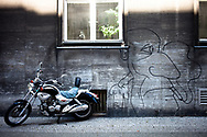 Grafitti on the streets of Moabit area, Berlin, Germany