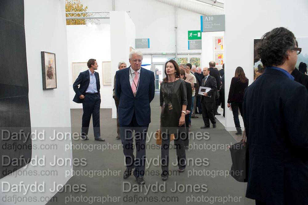 GERT RUDOLPH FLICK; DR. CORINNE FLICK;, opening of the 2010 Frieze art fair. Regent's Park. London. 13 October 2010. -DO NOT ARCHIVE-© Copyright Photograph by Dafydd Jones. 248 Clapham Rd. London SW9 0PZ. Tel 0207 820 0771. www.dafjones.com.