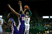 WACO, TX - DECEMBER 18: Gary Franklin #4 of the Baylor Bears shoots the ball against the Northwestern State Demons on December 18 at the Ferrell Center in Waco, Texas.  (Photo by Cooper Neill) *** Local Caption *** Gary Franklin