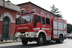 May 4, 2017 - Casoria, Campania/Napoli, Italy - Civil Protection Exercise at Casoria Train Station. Simulated a fire principle in a side corridor at the factory-station required the intervention of emergency, fire and fire protection personnel. The test allowed to test the procedures of the Emergency Plan of the Station and the capacity Response of the operating structures involved. (Credit Image: © Salvatore Esposito/Pacific Press via ZUMA Wire)