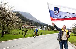 Supporters in Gornji Grad during 3rd Stage from Soca to Prevalje, 230km at Day 3 of DOS 2021 Charity event - Dobrodelno okrog Slovenije, on April 29, 2021, in Slovenia. Photo by Vid Ponikvar / Sportida