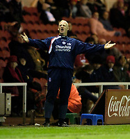 Photo: Jed Wee.<br /> Middlesbrough v Crystal Palace. Carling Cup. 30/11/2005.<br /> <br /> Crystal Palace manager Iain Dowie sees his team squander a 1-0 half time lead.