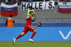 June 24, 2017 - Kazan, Russia - Alexander Samedov of Russia national team celebrates his goal during the Group A - FIFA Confederations Cup Russia 2017 match between Russia and Mexico at Kazan Arena on June 24, 2017 in Kazan, Russia. (Credit Image: © Mike Kireev/NurPhoto via ZUMA Press)