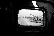 Destroyed Bosnian tank on the outskirts of Sarajevo.