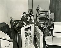 1938 Sound Effects Dept. at CBS Radio on Sunset Blvd.