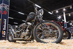 Custom Harley-Davidson Shovelhead by Vlad Romanov of Leecoln Hotrods at the Custom and Tuning Show, which was part of the big Motor Spring show in Moscow, Russia. Friday April 21, 2017. Photography ©2017 Michael Lichter.