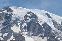 Glaciers on the summit and south face of Mount Rainier. Mount Rainier National Park