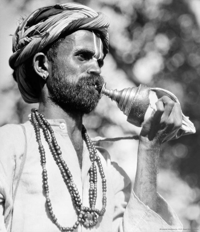 Priest at Village Festival, Antharasanthe, Karnataka, India, 1929