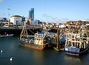 Fishing boats, The Camber, Old Portsmouth,  Hampshire, Englan